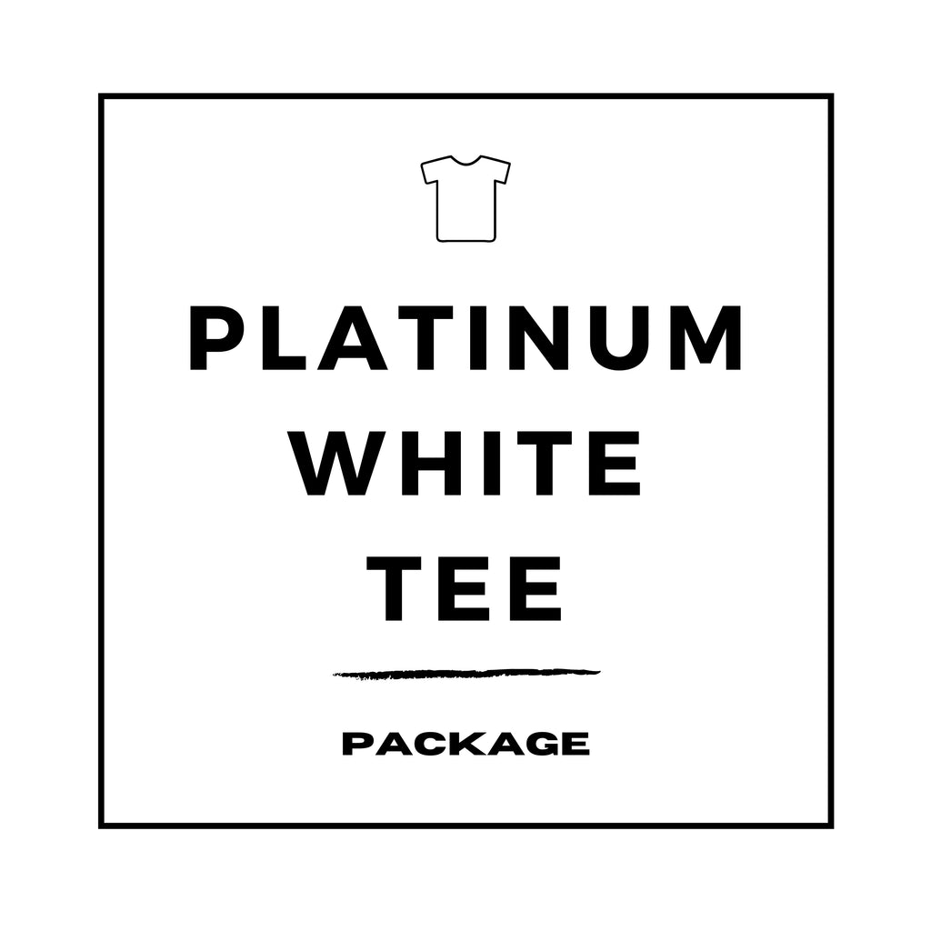 PLATINUM White Tee Package