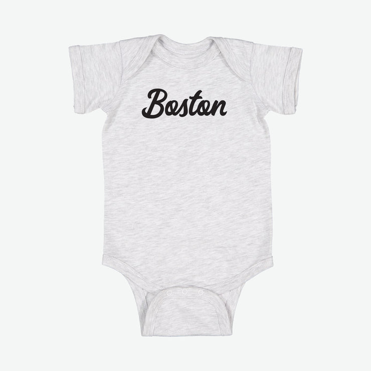 Boston Script Baby Onesie