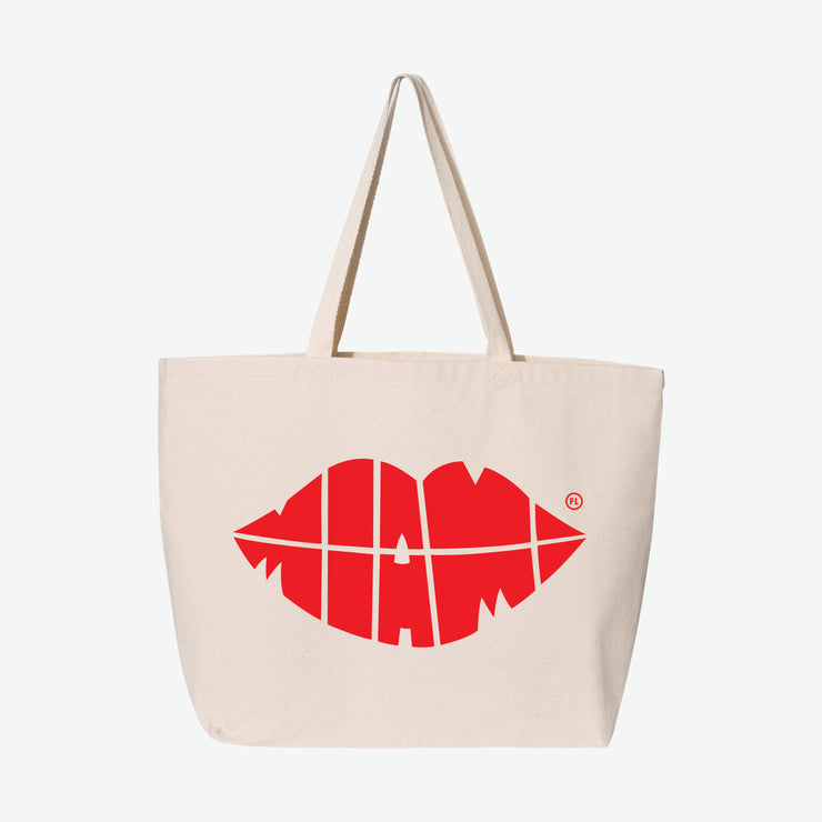 Miami Lips Tote Bag