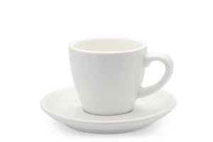 WHITE 3oz Cup & Saucer
