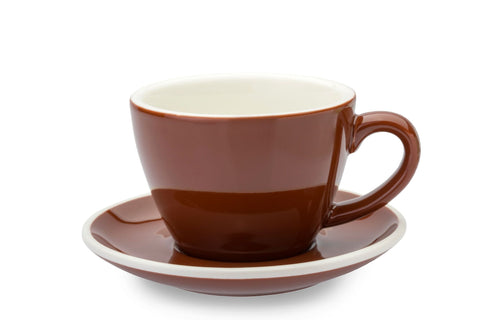 BROWN 8oz Cup & Saucer