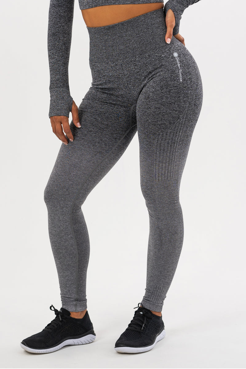 Seamless Grey Ombre Leggings