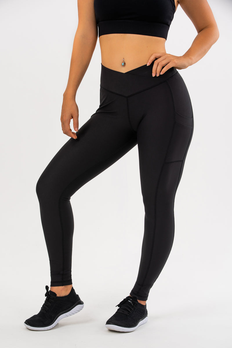 Black Hellebore V Waist Leggings