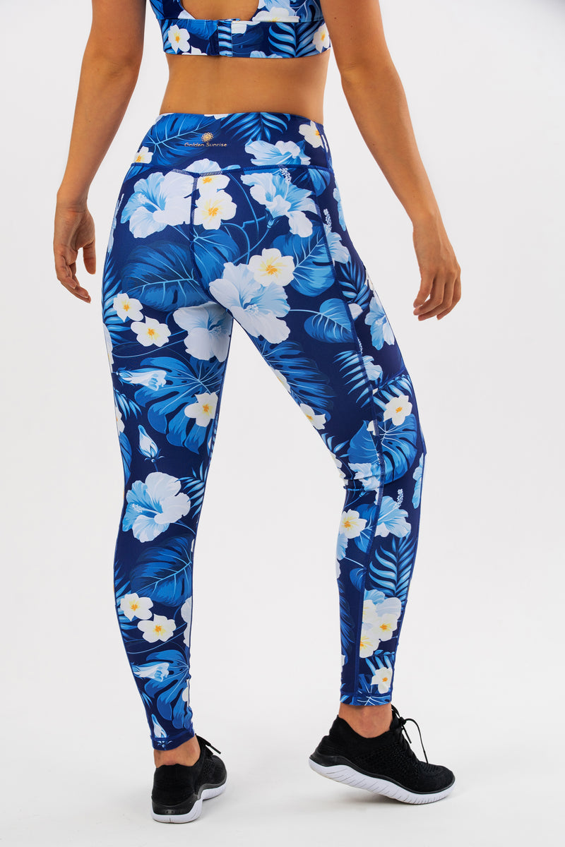 High Waisted Hibiscus Leggings