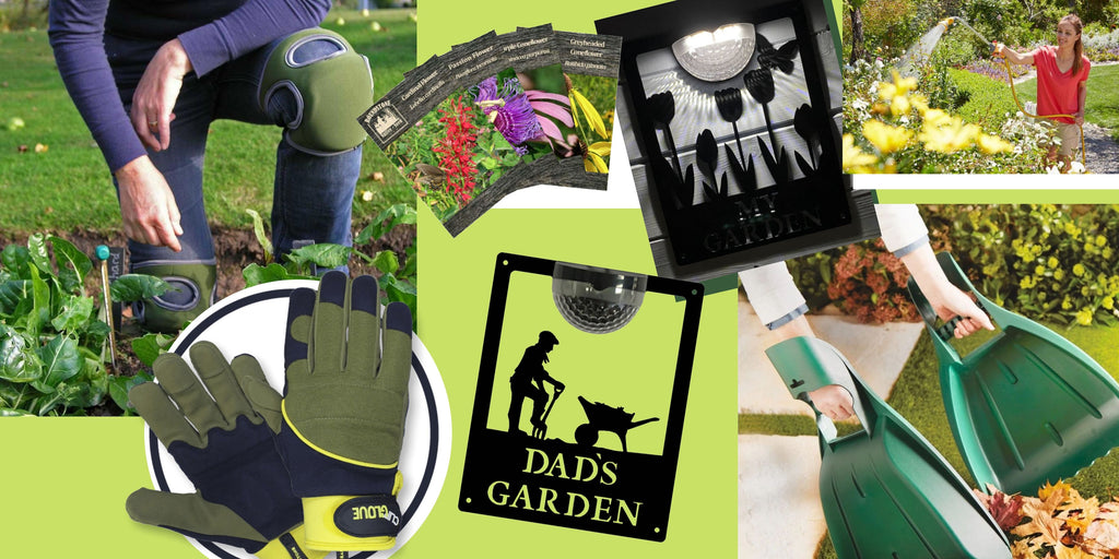 Gift Ideas for Father's who love spending time in the garden gardening. Replacing worn kit essentials such as a knee pad or a new hose.