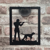 Shooter Solar Light Wall Plaque