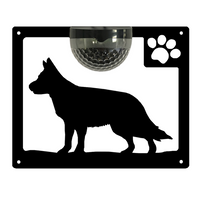 German Shepherd Dog Solar Light Wall Plaque