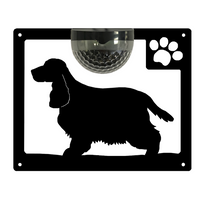 Cocker Spaniel Dog Solar Light Wall Plaque