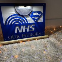'NHS Our Heroes' Solar Wall Plaque