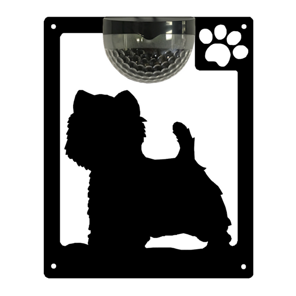 Westie Dog Solar Light Wall Plaque