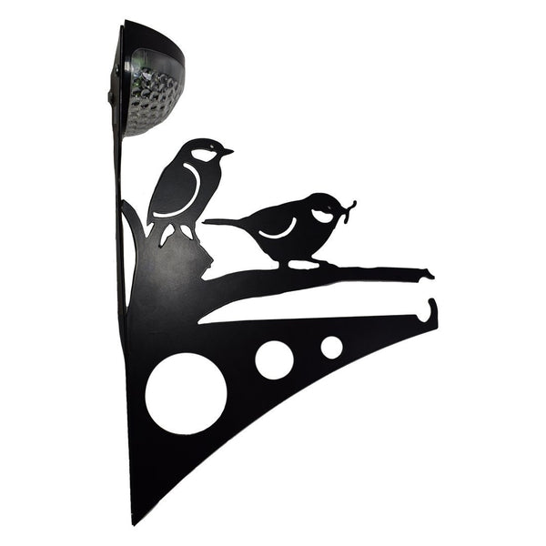 2 Birds Garden Bracket with Solar Light - Large - Flory's Online