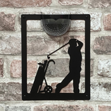 Golfer Solar Light Wall Plaque