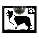 Border Collie Dog Solar Light Wall Plaque
