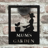 Mum's Garden Sign with Solar Powered Light