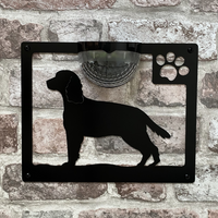 Springer Spaniel Dog Solar Light Wall Plaque