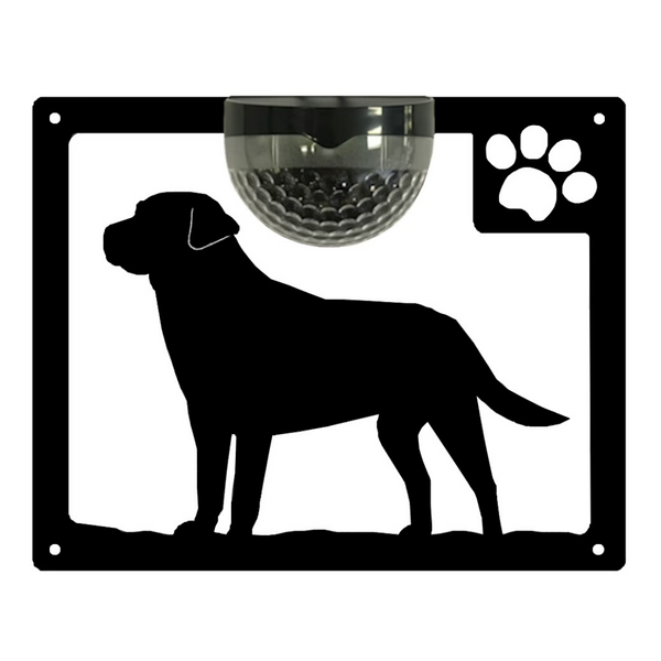 Labrador Dog Solar Light Wall Plaque