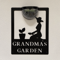 Grandma's Garden Sign with Solar Powered Light