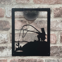 Fisherman Solar Light Wall Plaque