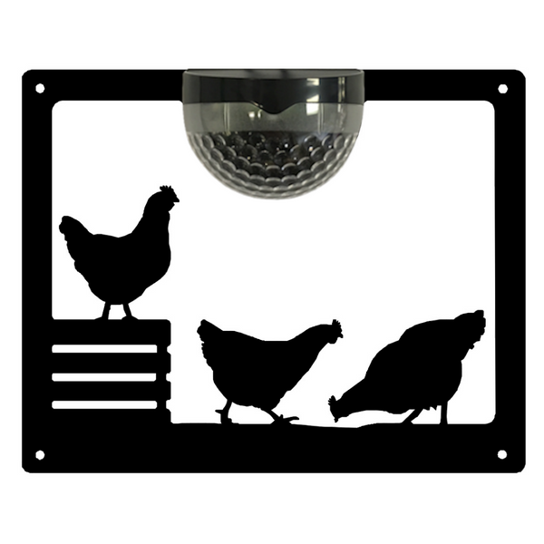 Chicken Solar Light Wall Plaque
