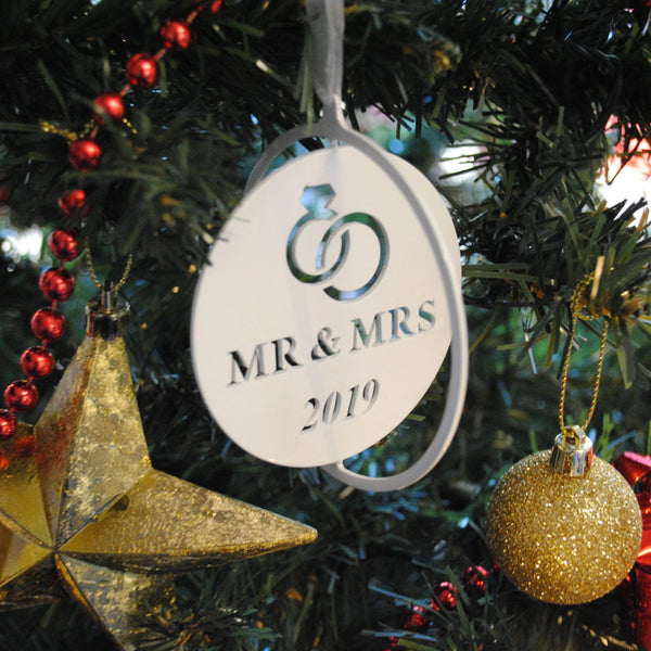 Mr & Mrs Christmas Bauble