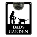 Dad's Garden Sign with Solar Powered Light
