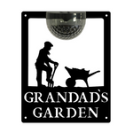 Grandad's Garden Sign with Solar Powered Light
