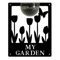 My Garden Sign with Solar Powered Light