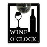 Wine O'Clock Sign with Solar Powered Light
