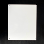 White Background for Solar Plaques