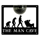 The Man Cave Sign with Solar Powered Light