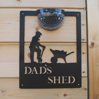 Dad's Shed Solar Powered Light Plaque