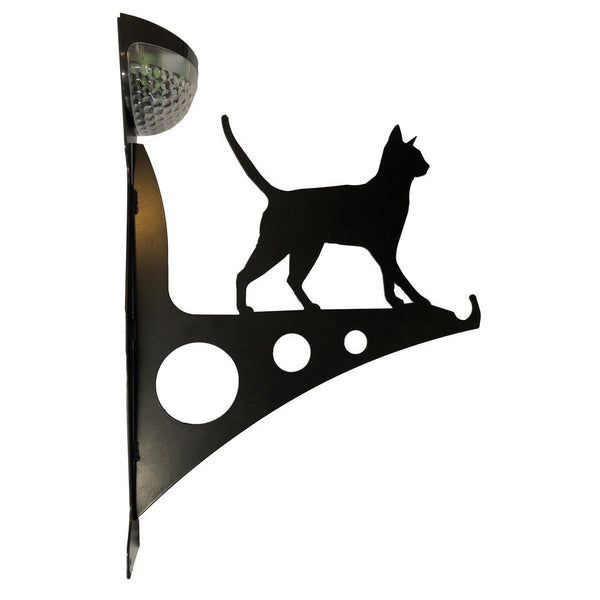 Cat Garden Bracket with Solar Light - Large - Flory's Online