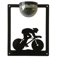 Cyclist Solar Light Wall Plaque - Flory's Online
