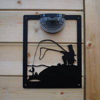 Fisherman Solar Light Wall Plaque - Flory's Online