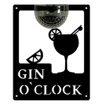 Gin O'Clock Sign with Solar Powered Light