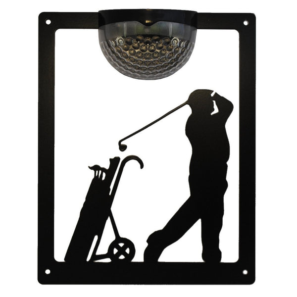 Golfer Solar Light Wall Plaque - Flory's Online