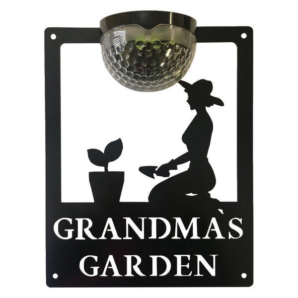 Grandma's Garden Sign with Solar Powered Light - Flory's Online