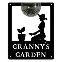 Granny's Garden Sign with Solar Powered Light - Flory's Online