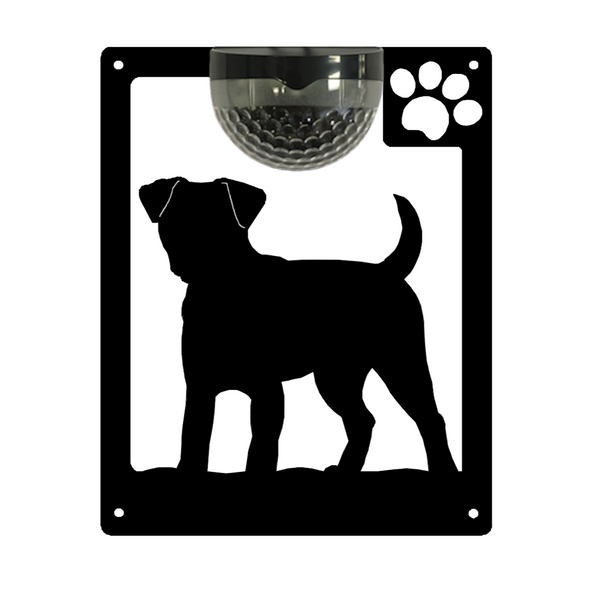Jack Russell Dog Solar Light Wall Plaque