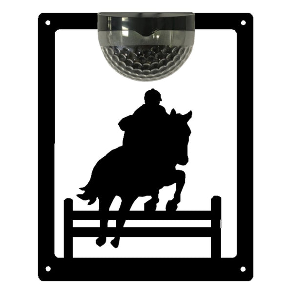 Horse Show Jumper Solar Light Wall Plaque - Flory's Online