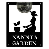 Nanny's Garden Sign with Solar Powered Light - Flory's Online