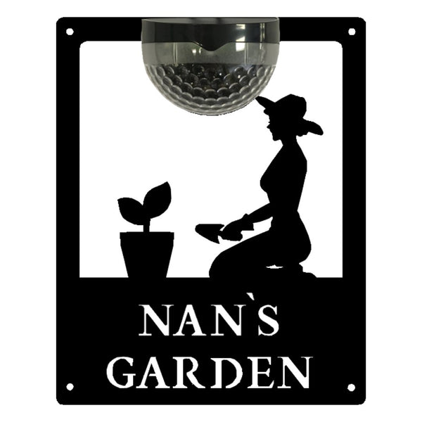 Nan's Garden Sign with Solar Powered Light - Flory's Online