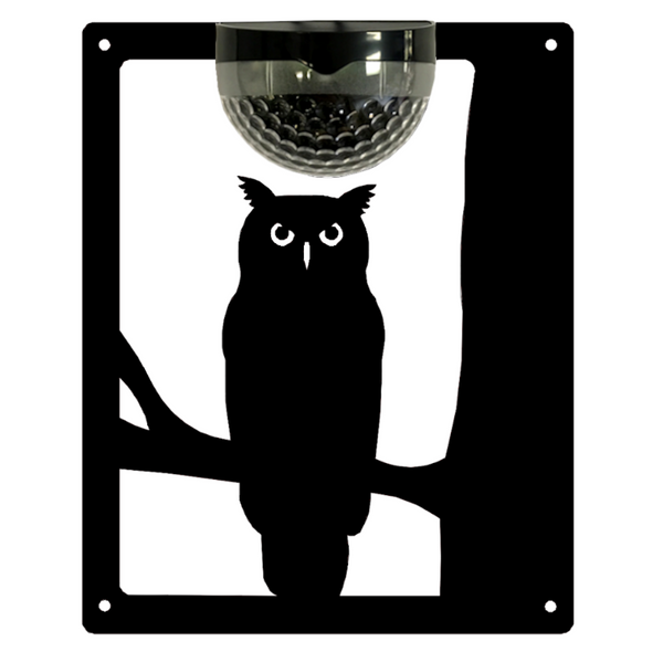 Owl Solar Light Wall Plaque