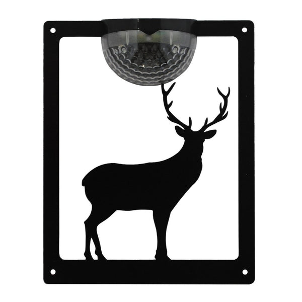 Standing Stag Solar Light Wall Plaque - Flory's Online