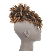 Μόδα Afro Curly Synthetic Hair One-Piece Faked Bun with Bang