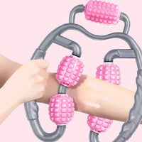 360 Degree Massager Leg Muscle Relaxation Roller Five-ball Ring Clamp Leg Yoga Fitness Equipment