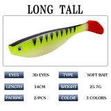 25,7 g / 14 cm Lure Bait T Tail Φωτεινό μαλακό δόλωμα