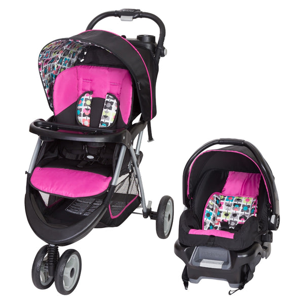 Stroller with Car Seat Combo Baby Trend EZ Ride Travel System Pink Infant Girls