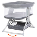 Quick-Fold 2-in-1 Rocking Bassinet- Shadow Stone Gray