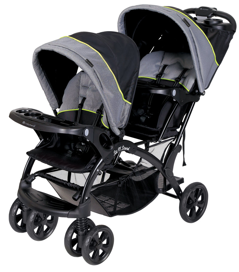 Baby Trend Sit N' Stand® Double Stroller- Pistachio